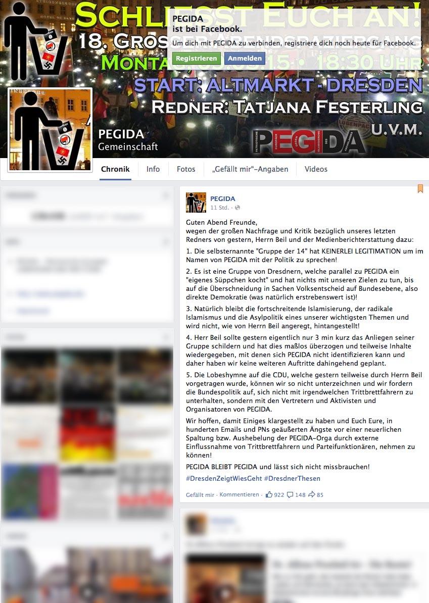 """PEGIDA - Medienberichterstattung zu """"Gruppe der 14"""""""
