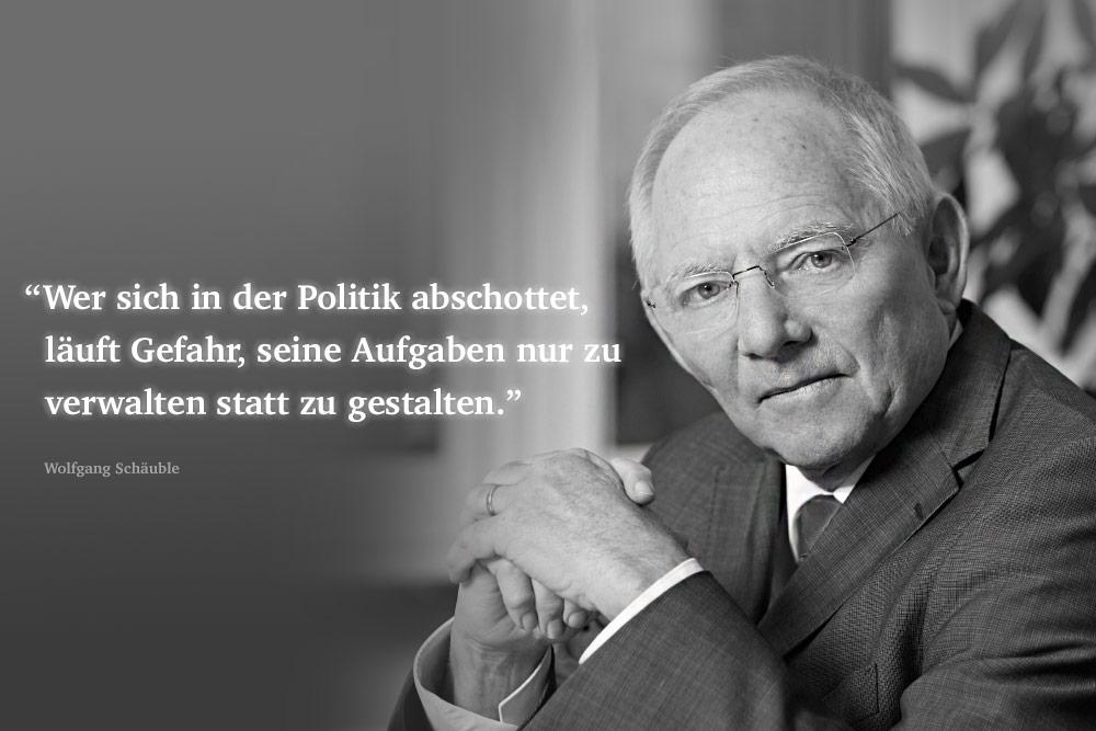 Gesetzesabschaffendes Referendum - Bundesminister der Finanzen Dr. Wolfgang Schäuble (MdB/CDU)