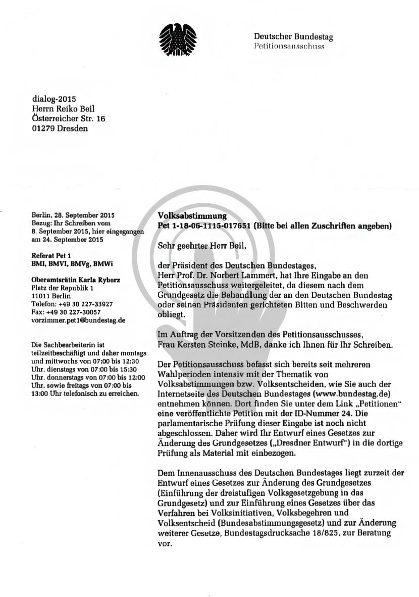 Dresdner Entwurf zum Petitionsausschuss - Pet 1-18-06-1115-017651