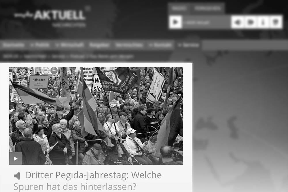 Dritter Pegida-Jahrestag: Welche Spuren hat das hinterlassen?